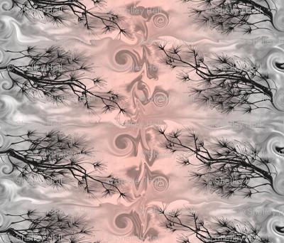 White Pine Pattern Pink