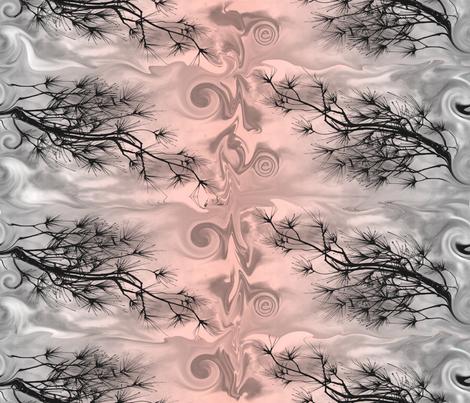 White Pine Pattern Pink fabric by nannette_cloete on Spoonflower - custom fabric
