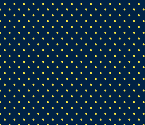 Lemon Drops/Navy Blue fabric by superartgirl on Spoonflower - custom fabric