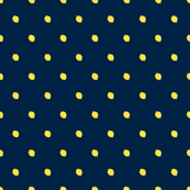 Lemon Drops/Navy Blue