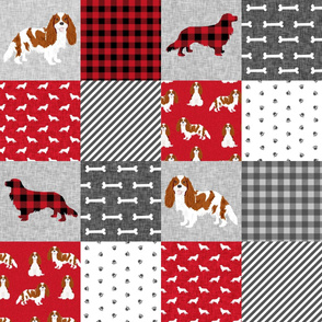cavalier king charles spaniel blenheim pet quilt a cheater quilt collection