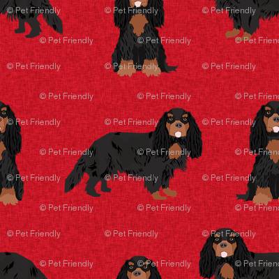 cavalier king charles spaniel black and tan pet quilt a collection coordinate