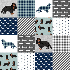 cavalier king charles spaniel black and tan pet quilt b collection cheater quilt