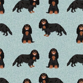 cavalier king charles spaniel black and tan pet quilt b collection coordinate