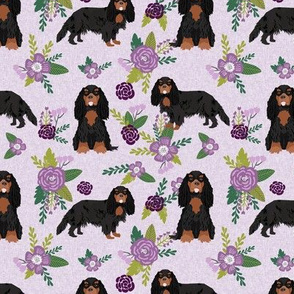cavalier king charles spaniel black and tan pet quilt c collection floral
