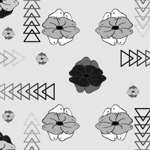 Floral to Triangle
