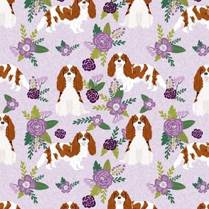 cavalier king charles spaniel blenheim pet quilt c collection coordinate floral