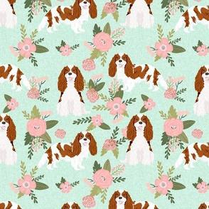 cavalier king charles spaniel blenheim pet quilt d collection coordinate floral