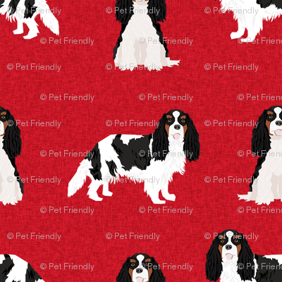 cavalier king charles spaniel tricolored pet quilt a dog nursery fabric coordinate