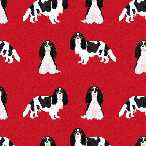 cavalier king charles spaniel tricolored pet quilt a dog nursery fabric coordinate fabric by petfriendly on Spoonflower - custom fabric