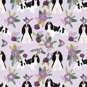 cavalier king charles spaniel tricolored pet quilt c dog nursery fabric coordinate floral