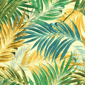 Palm Leaves in yellow