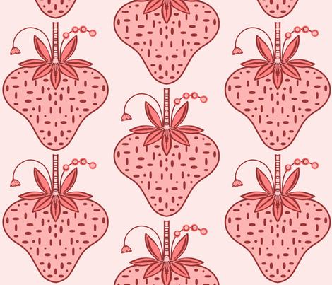 Lush strawberries sewindigo fabric by sewindigo on Spoonflower - custom fabric