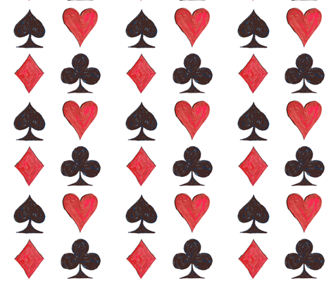 Playing Card ... Aces fabric by lisakling on Spoonflower - custom fabric