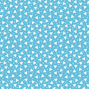 Tiny Triangles Blue
