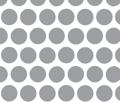 polka dot lg-medium grey fabric by kae50 on Spoonflower - custom fabric