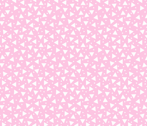 Tiny Triangles Pink fabric by bags29 on Spoonflower - custom fabric