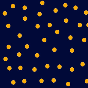 Blue and orange dot design