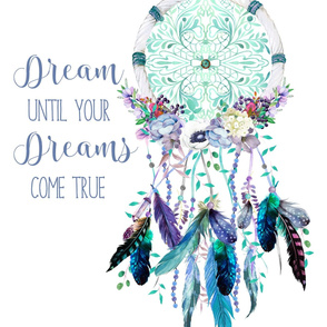 "27""x36"" Dream Until Your Dreams Come True / 2 to 1 Yard of Minky"