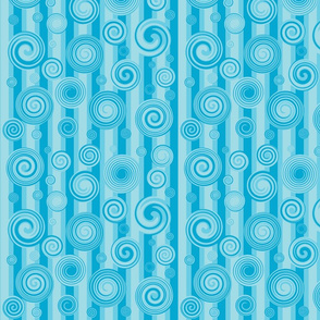 Blue Twirls