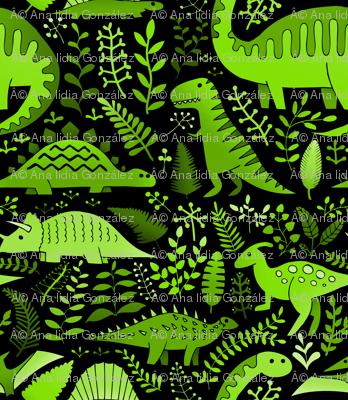 green dinos