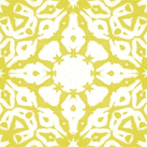 shibori starflowers lime