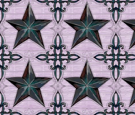 modern farmhouse stars fabric by beesocks on Spoonflower - custom fabric