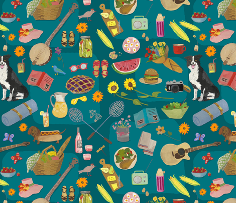 Summer Cookout fabric by dasbrooklyn on Spoonflower - custom fabric