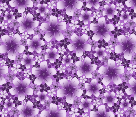 Purple Petals fabric by jjtrends on Spoonflower - custom fabric