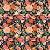 Bold Peach Floral