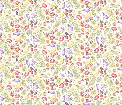RusticVeggieFabricLg fabric by blairfully_made on Spoonflower - custom fabric