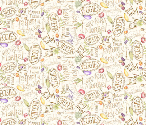 MarketWords fabric by blairfully_made on Spoonflower - custom fabric