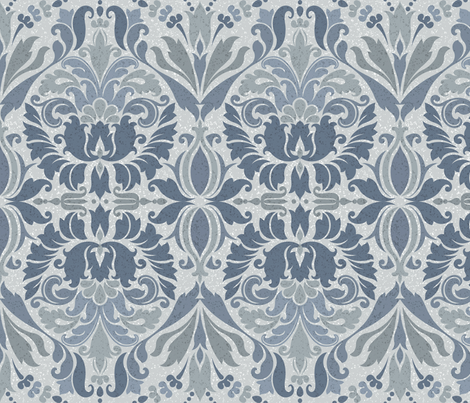 Shaded Damask fabric by stitchyrichie on Spoonflower - custom fabric
