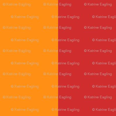 wide stripe-red/tangerine
