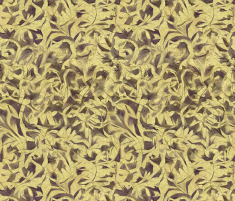 Tossed Leaves-parchment fabric by wren_leyland on Spoonflower - custom fabric