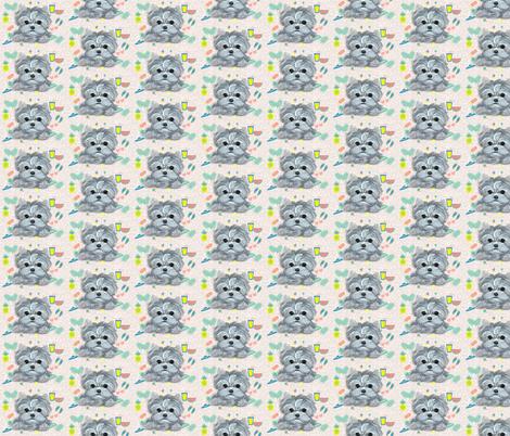 SummerYorkie fabric by sugarspiceart on Spoonflower - custom fabric