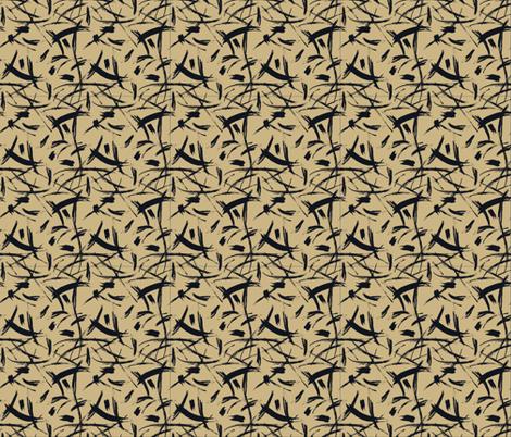Brushstrokes in black-beige_SF fabric by beverlyjane on Spoonflower - custom fabric