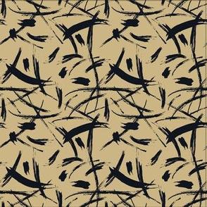 Brushstrokes in black-beige_SF