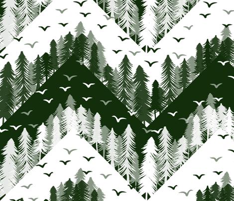 forest chevron large fabric by b0rwear on Spoonflower - custom fabric