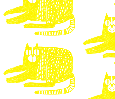 Gato Amarillo Spoonflower fabric by goyita on Spoonflower - custom fabric