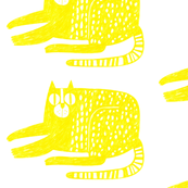 Gato Amarillo Spoonflower