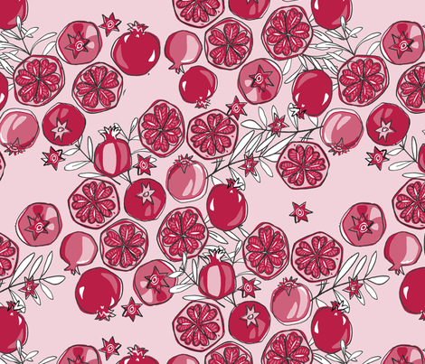 Passionate About Pomegranate fabric by jpweaver on Spoonflower - custom fabric