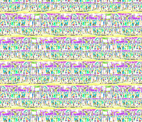 Streets in Spring fabric by twigsandblossoms on Spoonflower - custom fabric