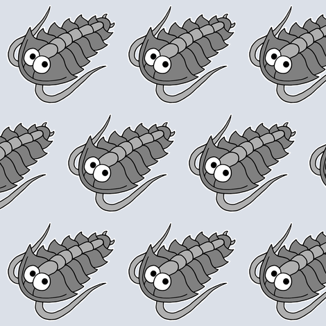 Cute Trilobite fabric by adriennebody on Spoonflower - custom fabric