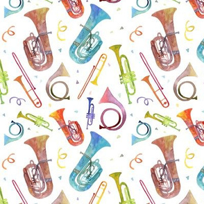Complex Brass Band Watercolor - Mini Scale