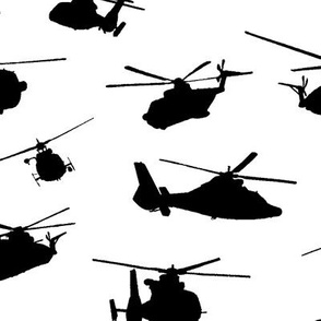 Helicopter Silhouettes // Large