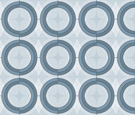Rings & Argyle in Blue Gray fabric by boolinds on Spoonflower - custom fabric