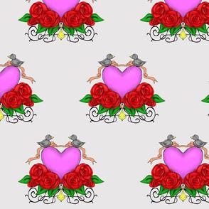 Love Birds- Grey Background