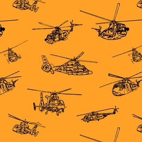 Choppers on Orange // Small