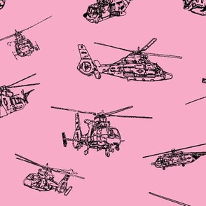 USCG Choppers on Pink // Large